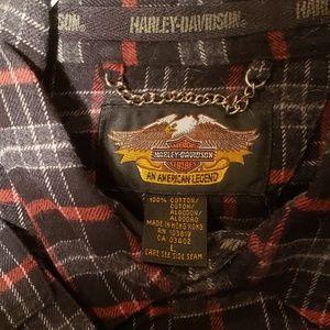 Harley-Davidson Shirts - Harley-Davidson - Plaid Snap-Down Long Sleeve